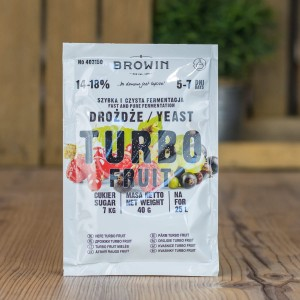 Drożdże BROWIN TURBO FRUIT 40g 5-7 dni
