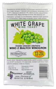 Drożdże winiarskie WINE YEAST WHITE GRAPE -  do wina z białych winogron
